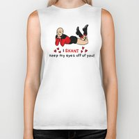 picard Biker Tanks featuring Sexy Picard by Jessica Fink