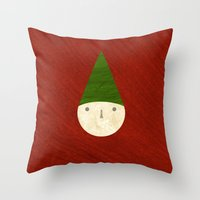 elf Throw Pillows featuring Elf by Inmyfantasia