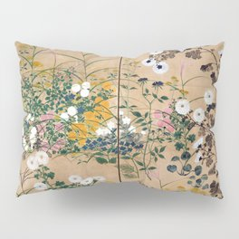 Ogata Korin Flowering Plants in Autumn Pillow Sham