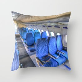 Tupolev TU-154 Russian Airliner Seating Throw Pillow