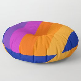 Simple Stripes - Sapphire Floor Pillow
