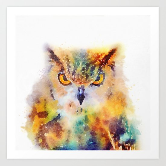 The Wise - Owl Art Print