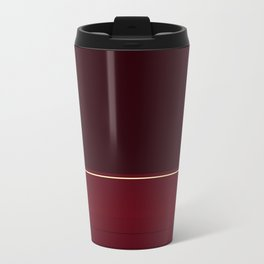 Rich Burgundy Ombre with Gold Stripes Travel Mug