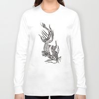 data Long Sleeve T-shirts featuring Data Fish by Samantha Witherford