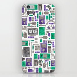 Nerdy Gamer Pattern iPhone Skin