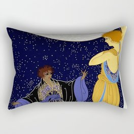 "Art Deco Design ""Night Dream"" Rectangular Pillow"