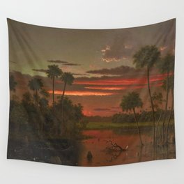 The Great Florida Sunset by Martin Johnson Heade Wall Tapestry
