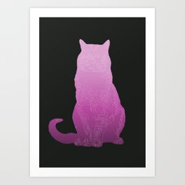 Cat in Black Art Print