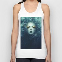 ink Tank Tops featuring Ink by Anna Dittmann