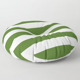 Simply Stripes in Jungle Green Floor Pillow