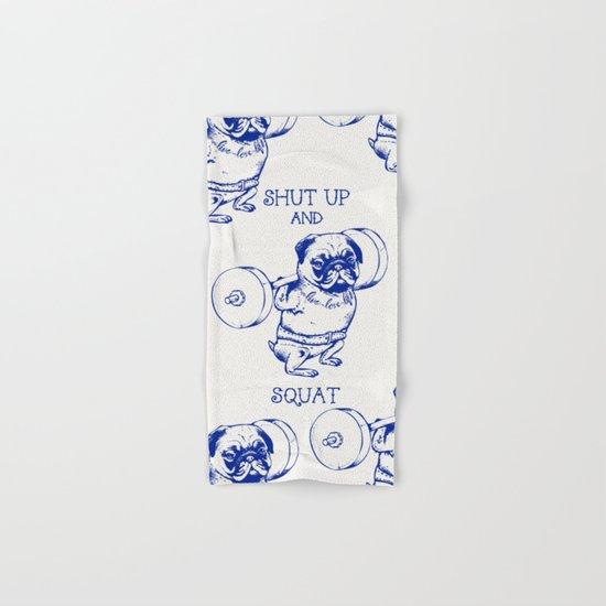 Pug Squat Hand & Bath Towel
