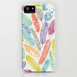 scattered feathers iPhone Case