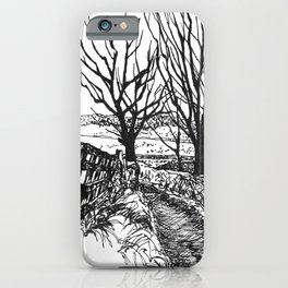 the road down from fairy hill iPhone Case
