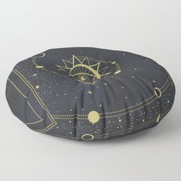 The Solar System Floor Pillow