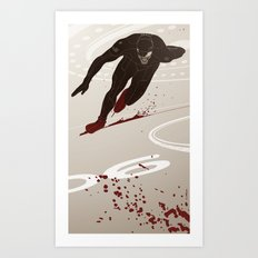 Bloody Skating - The Runner Up Art Print