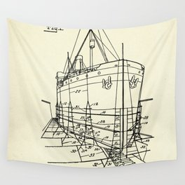 Ship Scaffold-1924 Wall Tapestry