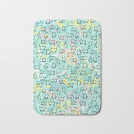 Marble Kitty Cats Bath Mat