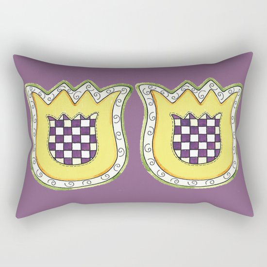 Yellow Tulip Rectangular Pillow