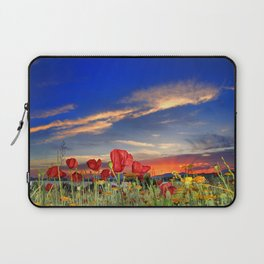 Poppies at sunset Laptop Sleeve
