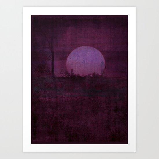 Shar ~ Purple Art Print