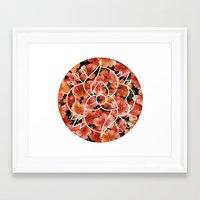 la dispute Framed Art Prints featuring La Dispute - Floral by tumblrian