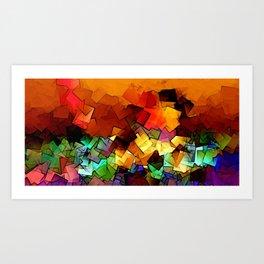 towel full of colors -6- Art Print