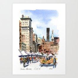 Union Square Greenmarket Art Print