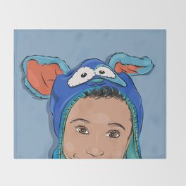 My Bunny Hat Throw Blanket