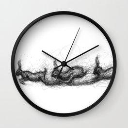 Run Rabbit Run Wall Clock