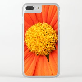 Mexican Sunflower Close Perspective Clear iPhone Case