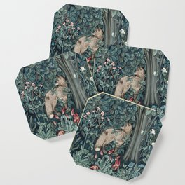 William Morris Forest Fox Tapestry Coaster