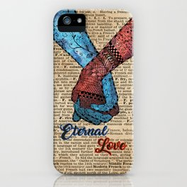 Holding Hands,Eternal Love,Space Dictionary Art iPhone Case