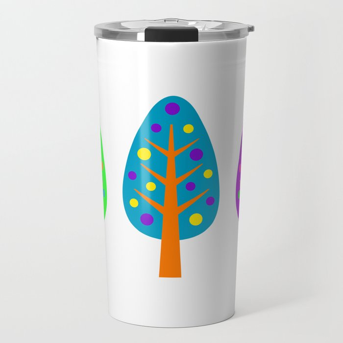 CHRISTMAS TREES_COLORFUL Travel Mug