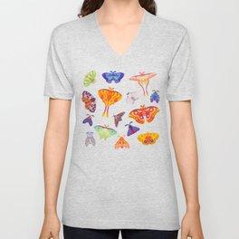 Moth - pastel Unisex V-Neck