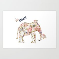 Elephant Create Art Print