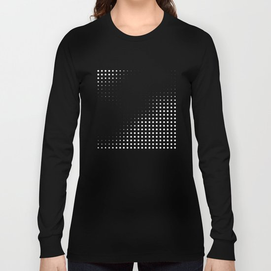 Black raster - Optical game12 Long Sleeve T-shirt