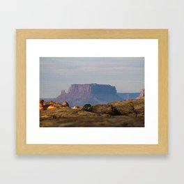 Distant Mesa Framed Art Print