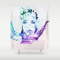 splash Shower Curtains featuring Splash by CLE.ArT.