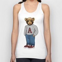 teddy bear Tank Tops featuring teddy bear by ulas okuyucu