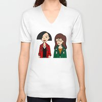 daria V-neck T-shirts featuring Daria & Jane by Marianna
