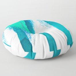 three legged race : abstract Floor Pillow