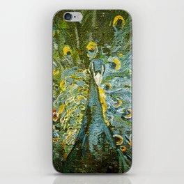 Green Peacock  iPhone Skin