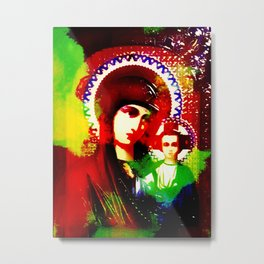 Psychedelic Mother of God - Infrared (The Technicolor Saints) Metal Print