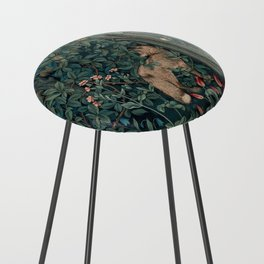 William Morris Greenery Tapestry Counter Stool