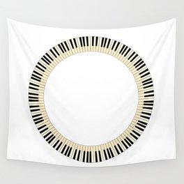 Pianom Keys Circle Wall Tapestry