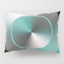 Serene Simple Hub Cap in Aqua Pillow Sham