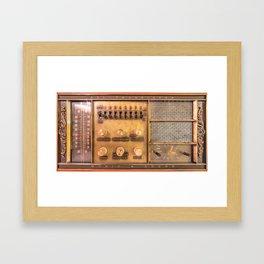 Vintage Wall Radio Framed Art Print