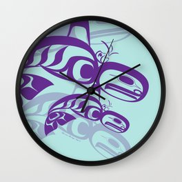 Killerwhale Family Wall Clock