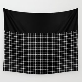 Dotted Grid Boarder Black Wall Tapestry