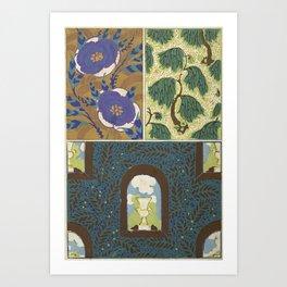 Art Deco vintage pattern Art Print